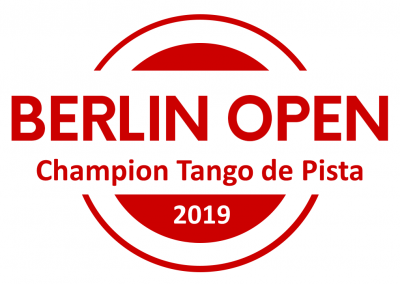 Title: BERLIN OPEN Champions Tango de Pista, Round Trip to Buenos Aires with Swiss Air (Pay Attention: Flight will be from Zurich to Buenos Aires - we add another 150 Eur for expenses), Full Performance @ Pippo @EMBRACE BERLIN Tango Festival with professional Video from 030 Tango, Guests of Honor @ EMBRACE 2020, Direct Qualification to Semi Finals of International South Californian Championships inkl. Full Festival Pass, Direct Qualification to Semi Finals of Shanghai Tango Marathon & Competition, Free Pass to UK Tango Championships & Festival, Full Festival Pass & Free Entrance to Championship @ Istanbul Tango Fiesta, Full Pass for Pippo & Friends Marathon, 100 Eur Voucher Lin Creations,  1 pair of shoes from Lamalisa Tango Boutique, Berlin Open Champions, Certificate, Champions-Logo