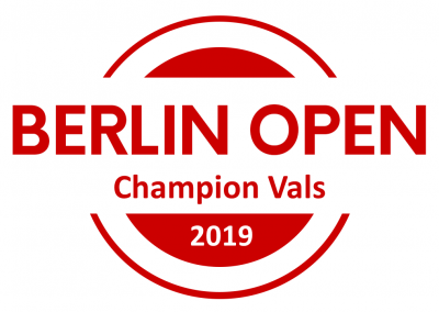 Title: BERLIN OPEN Champions Vals, Direct Qualification to Semi Finals of International South Californian Championships inkl. Full Festival Pass, Free Pass to UK Tango Championships & Festival, Full Festival Pass for Pippo & Friends Marathon, 100 Eur Voucher Lin Creations, 1 Pair of Shoes Ala Malisa, Berlin Open Champions, Certificate, Champions-Logo