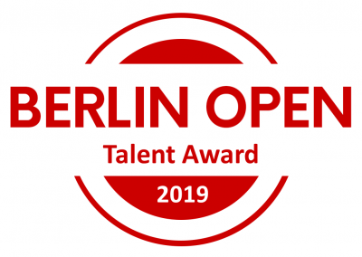 Title: BERLIN OPEN Talent Award, 2 Private Classes @ Academia de Tango Berlin, Full Festival Pass to Belgrade Encuentro, Full Festival Pass for EL SABOR de Hungría in Budapest, 100 Eur Voucher Lin Creations, Certificate, Winner-Logo