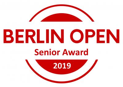 Title: BERLIN OPEN Senior Award, 100 Eur Voucher Lin Creations, Full Festival Pass for EL SABOR de Hungría in Budapest, Full Pass for High Noon Tango Marathon, Certificate, Winner-Logo
